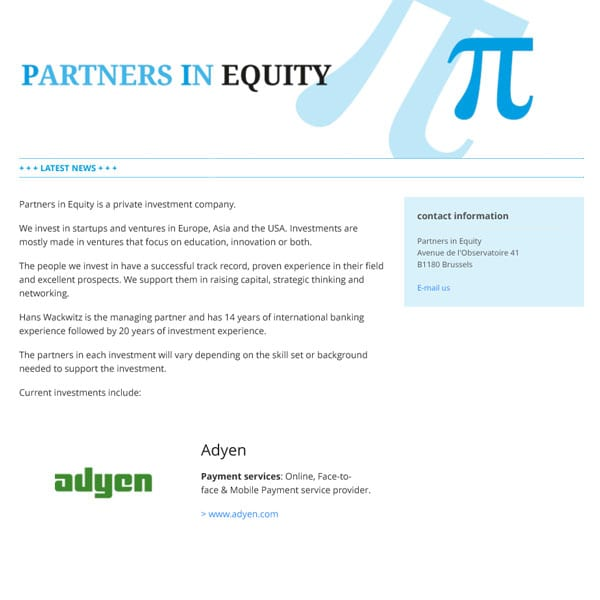 Partners in Equity BV