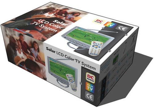 Packaging Solar Home TV System