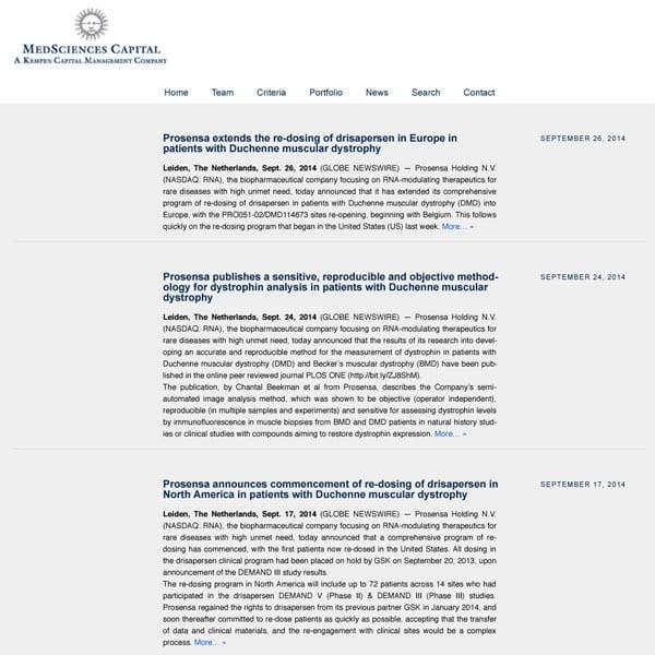 MedSciences Capital BV